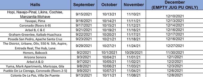 UA Water Schedule-1